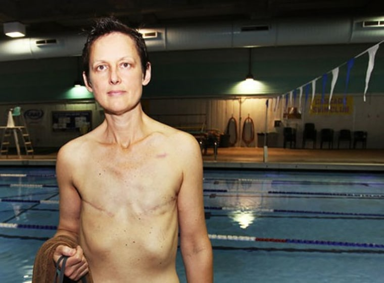 Jodi Jaecks is a breast cancer survivor who had a double mastectomy in 2011. She made headlines this week after going public with her desire to swim topless in Seattle's public pools.