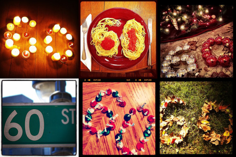 TODAY staffers snap and tag images of how they see 60 in honor of the show's big anniversary using the popular picture app Instagram.