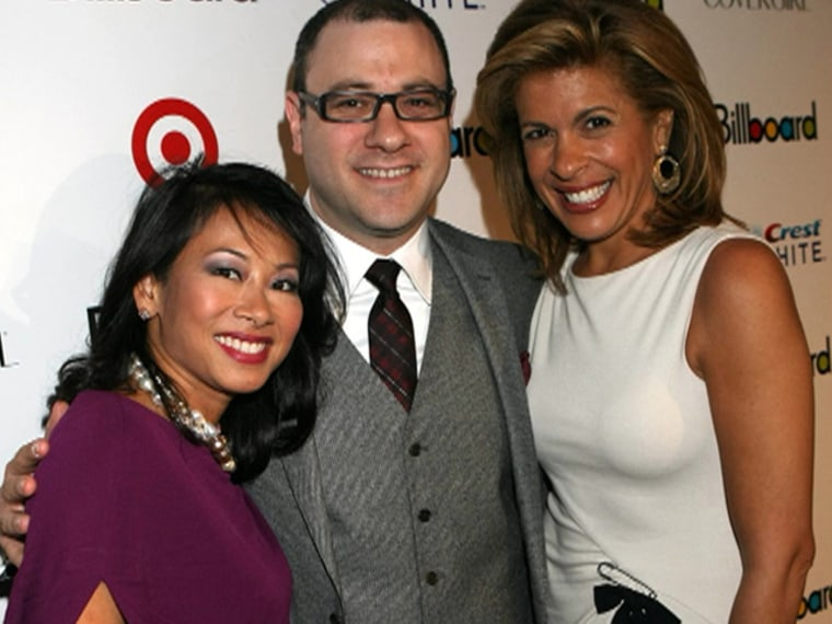 TODAY senior producer Melissa Lonner stands with Hoda Kotb and Billboard's Bill Werde.