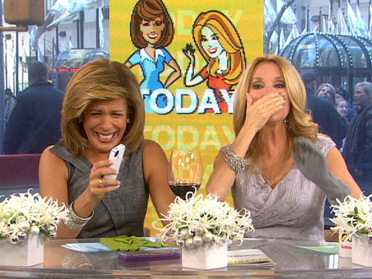 Hoda can't help but laugh at Siri's outburst and her inability to listen to her.