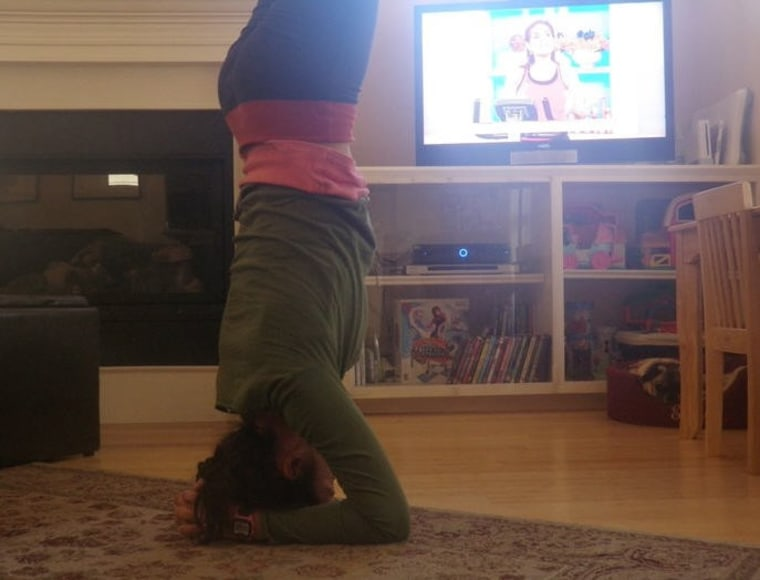 A little yoga...