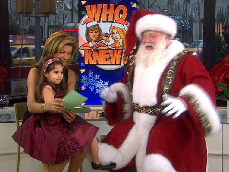 Santa Claus on the 4th hour of TODAY with Hoda and her niece Hannah.