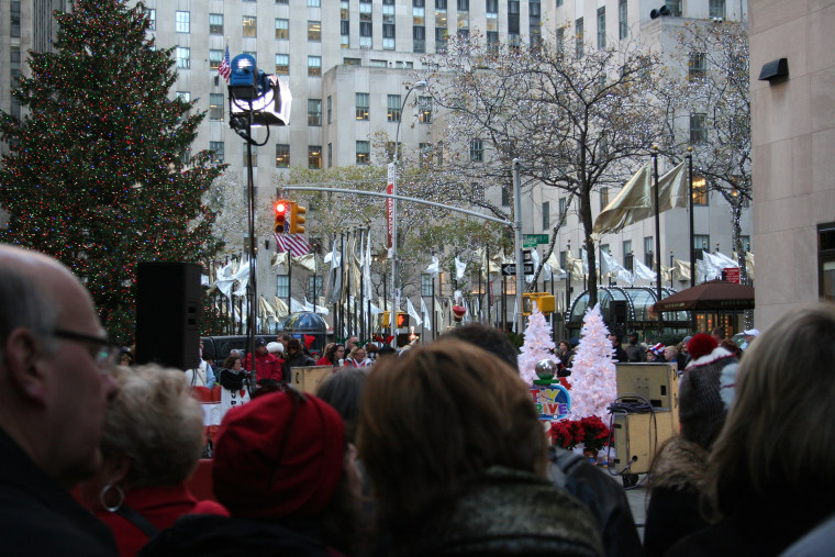 The tree stands proud and tall behind the TODAY show fans.