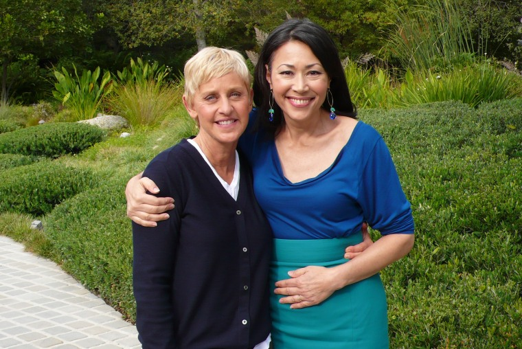 The star chatted with Ann Curry at her home in L.A.