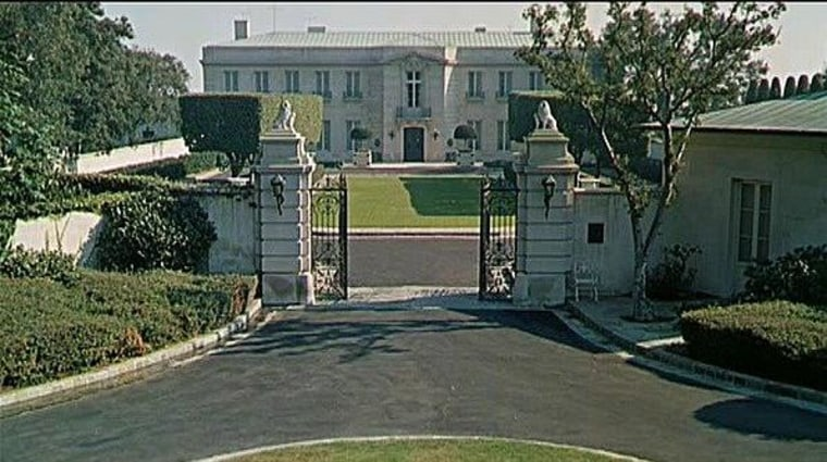 """""""The Beverly Hillbillies"""" was one of the first shows that took place inside a home with a physical address, rather than in a studio. This enormous 21,523-square-foot estate hosted the series throughout its nine-year run. The 10-bed, 12-bath home was built in 1933."""