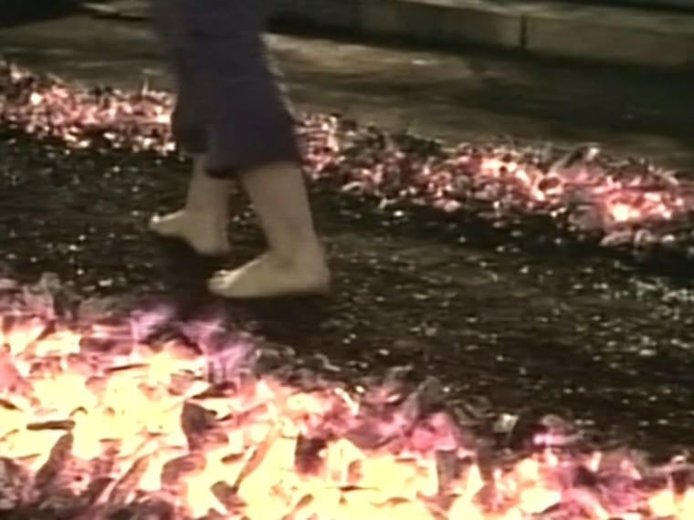 firewalkers at robbins seminar got burned but most don t how