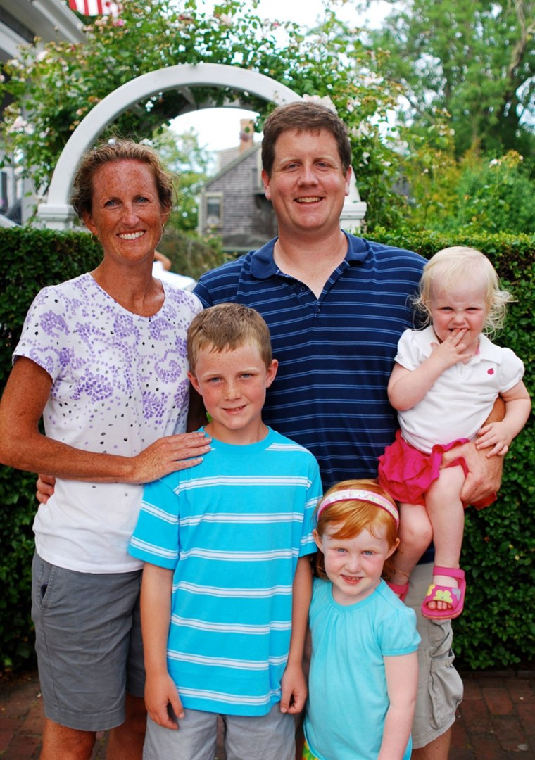 Andrea Alley and her children Timothy, Joanna, Caroline and husband Barry