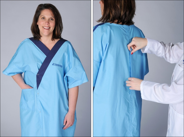 Hospital introduces new gown design: It has a back!