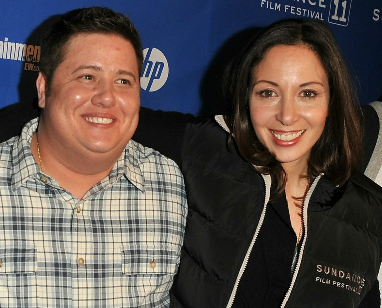 """Chaz Bono and Jennifer Elia at the premiere of \""""Becoming Chaz\"""" in Park City, Utah, last January."""