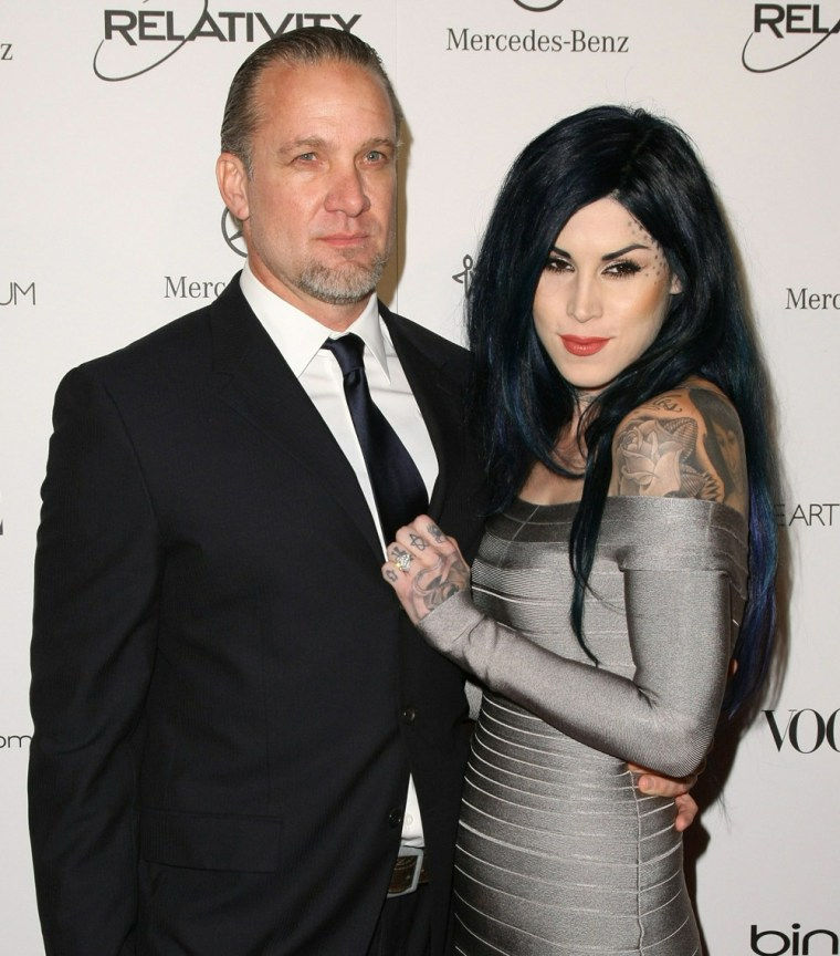 """""""I have never felt so loved! I'm the luckiest MoFo in the world!"""" Jesse James says of Kat Von D."""