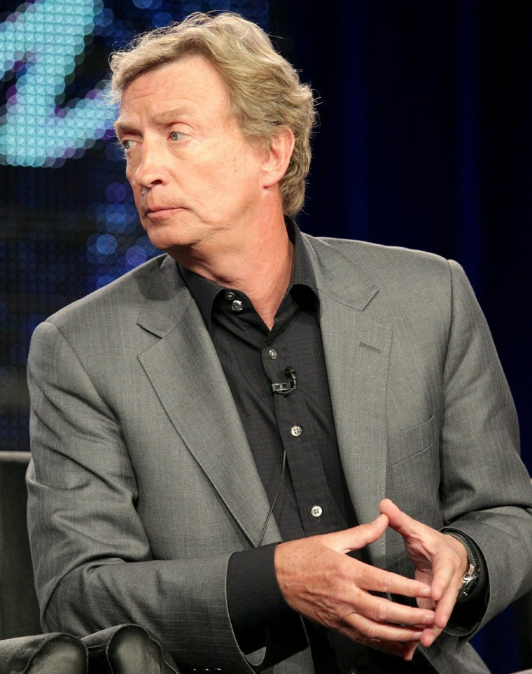 """Producer Nigel Lythgoe during the """"American Idol"""" panel at the FOX portion of the 2011 Winter TCA press tour in Pasadena, Calif., this week."""