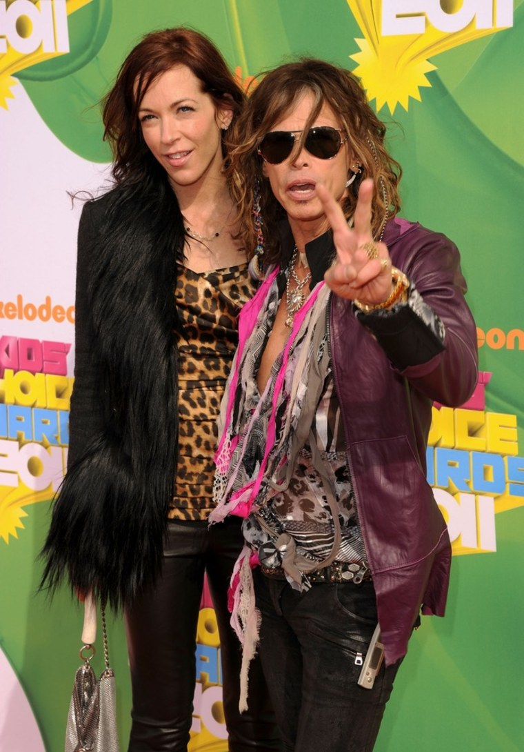 Steven Tyler and Erin Brady at Nickelodeon's Kids' Choice Awards in Los Angeles in April.