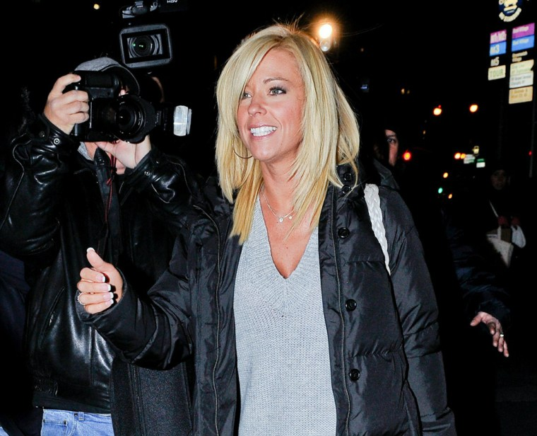 Reality TV mom Kate Gosselin leaves the Ted Gibson Salon in New York on Wednesday, Dec. 8.