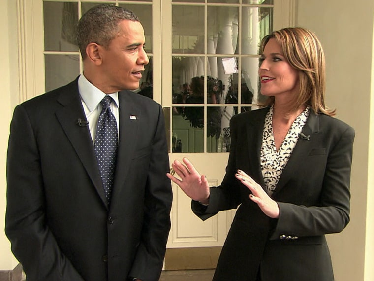 Savannah Guthrie walks-and-talks at the White House with President Obama.