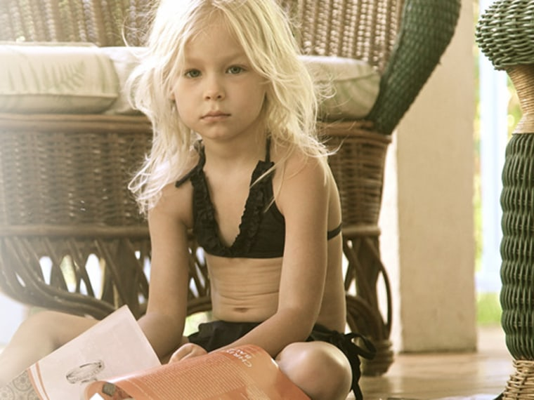 2aee4441e1 Gwyneth Paltrow's kid bikinis stir debate: Are they appropriate for ...