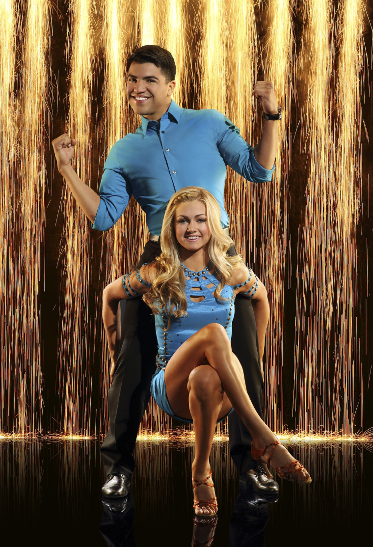 """Victor Ortiz and his """"Dancing With the Stars"""" pro partner Lindsay Arnold."""