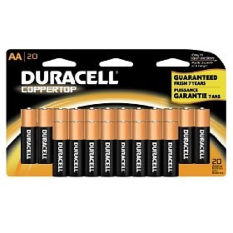 Duracell CopperTop alkaline batteries are lauded for their longevity.