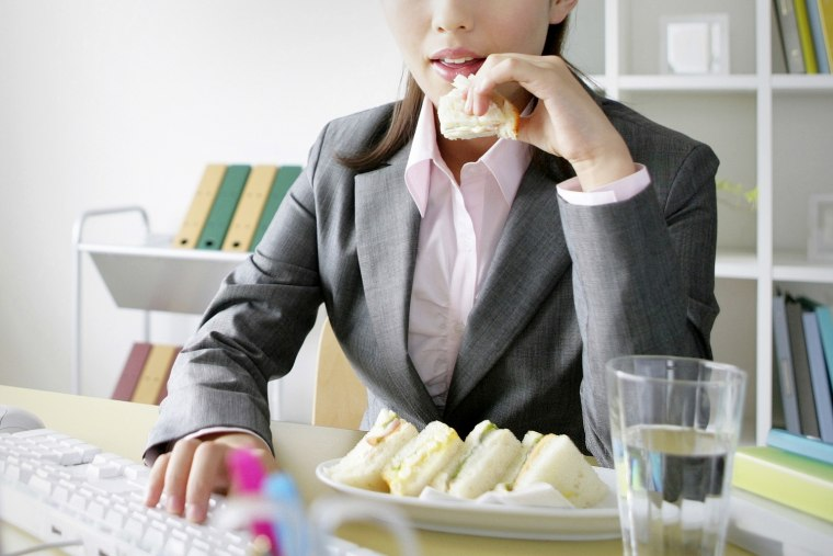 Multitasking eats the lunch hour. More people than ever in America are skipping lunch hours and eating at their desks instead.