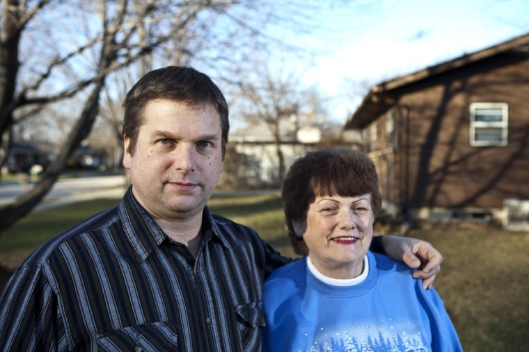 Mark Dominas, 46 and his mother Connie, 77, live together in a house they purchased about four years ago as part of an investment and a way to conserve money.