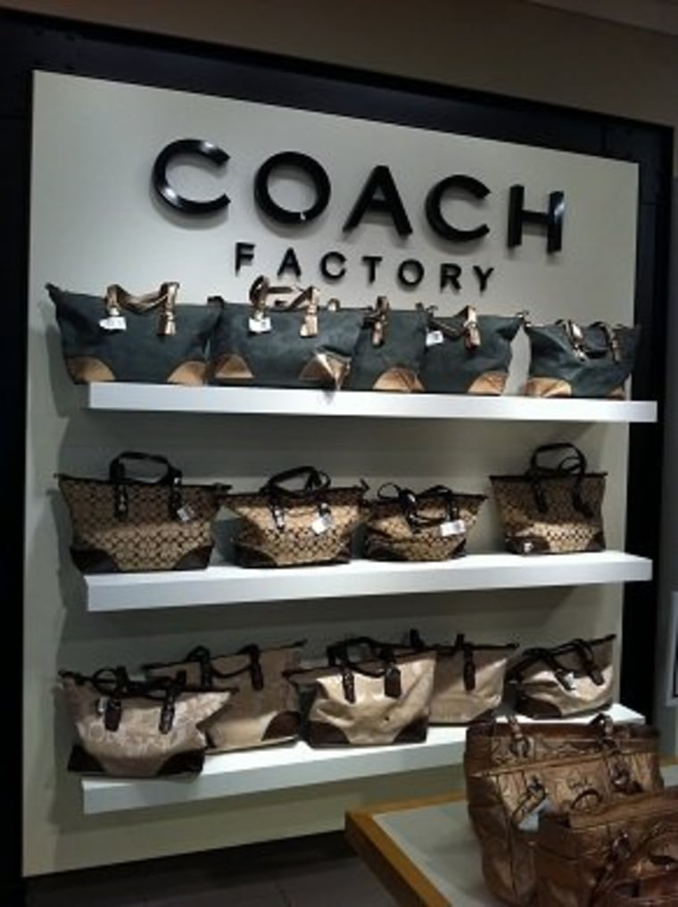 Coach bags can be 44 percent cheaper at the outlet