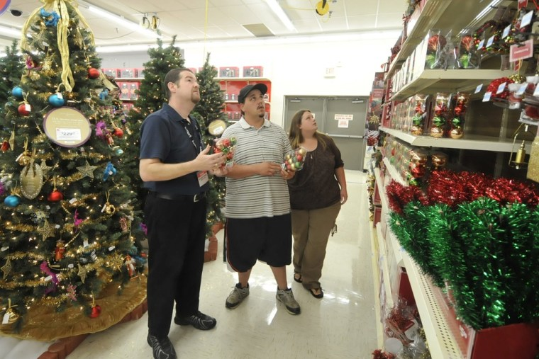 Kmart's holiday decorations were on sale by early October.