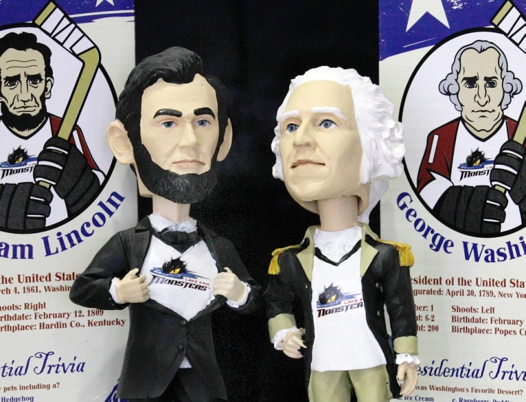 Presidents Day was celebrated this month with a bobblehead doll giveaway in Cleveland.