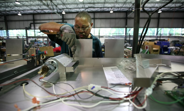 Assembler Dennis Tabor at work at Viking Range Corp. in Greenwood, Miss.