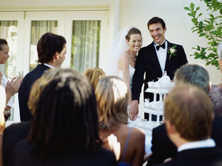 Some people can no longer afford the expenses of attending a wedding.