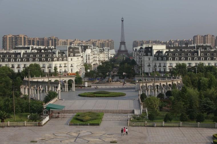 A view of the Tianducheng development in Hangzhou.