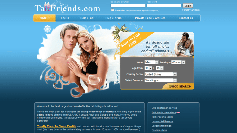 Dating sites for singles in usa