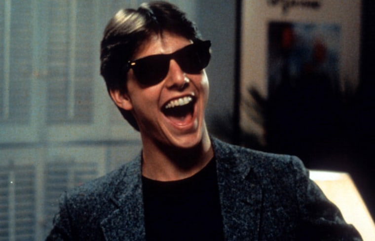 FILE: Tom Cruise laughs in a scene from the film 'Risky Business', 1983. (Photo by Warner Brothers/Getty Images)  3 MONTH LICENSE beginnina Aug. 5, 20...