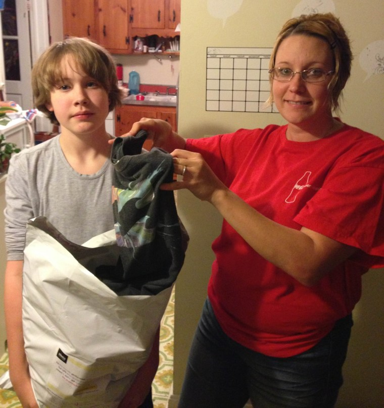 Farmer family collects clothing