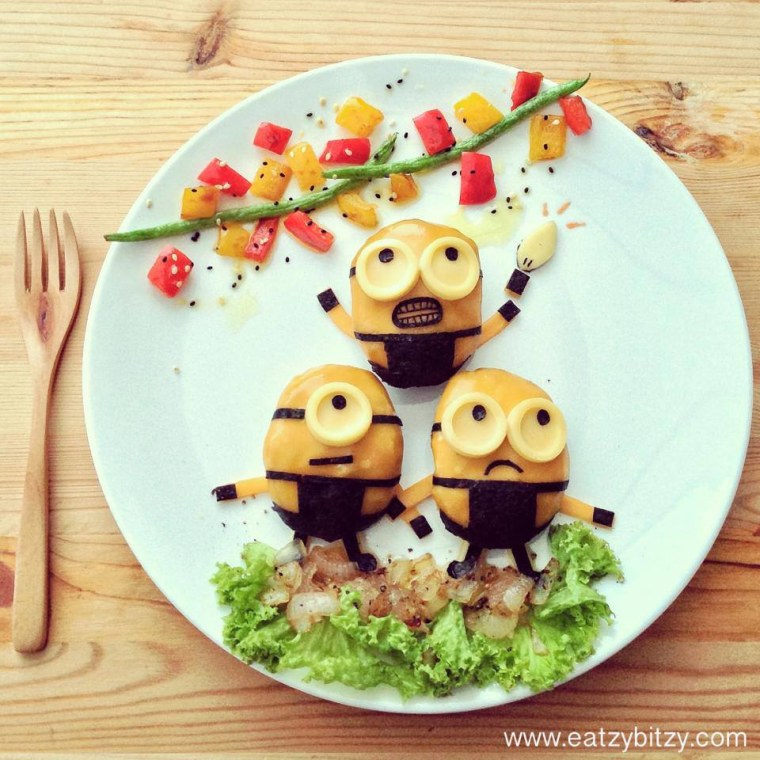 Fun with food: Cool plates turn mom into Instagram star