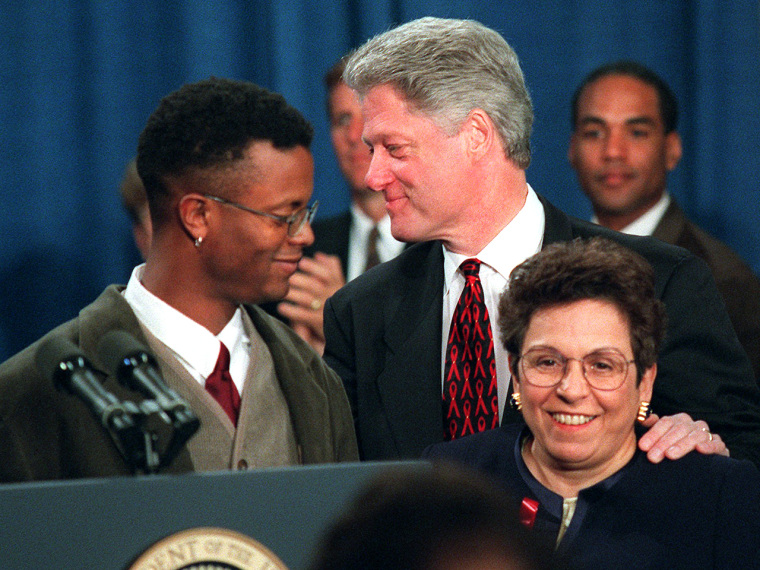 Sean Sasser participated in the White House's first conference on AIDS in 1995.