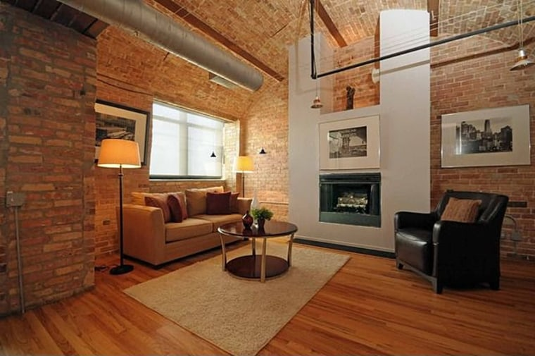 Nabisco ovens were converted into this Chicago penthouse in 1995.