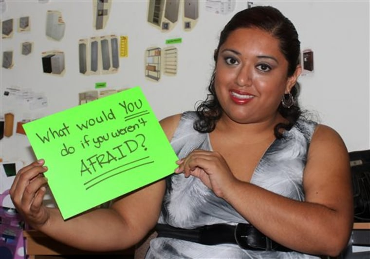 In this Aug. 12, 2013 photo, marketing executive Ana Falcon poses for a photo in Monterrey, Mexico. Falcon is working to set up a Lean In circle, or s...