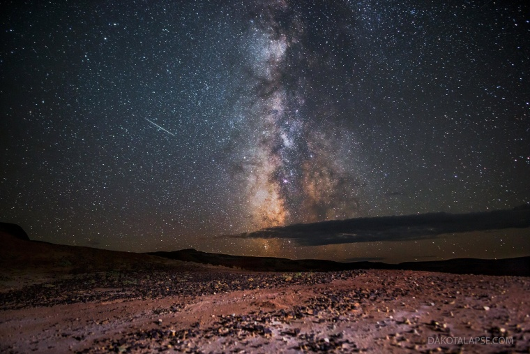 Astrophotographer Randy Halverson captured this shot of a Perseid meteor streak against the backdrop of the Milky Way in Wyoming's Red Desert. For more of Halverson's work, check out DakotaLapse.com and the DakotaLapse Facebook page.