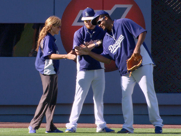 Falsone and her staff have helped the Dodgers overcome a rash of injuries early in the season to get some top players back on the field who have helped them move into first place in their division.