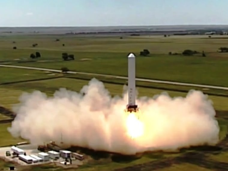 SpaceX's Grasshopper test rocket flies sideways successfully
