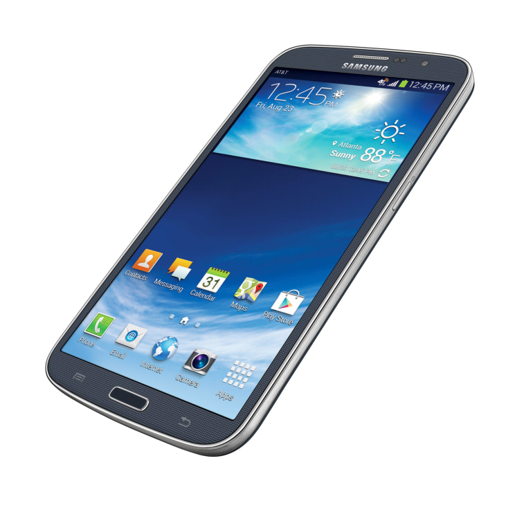 This photo provided by AT&T shows the Samsung Galaxy Mega. With a screen measuring 6.3 inches (16-centimeter) diagonally, the Galaxy Mega is almost as...