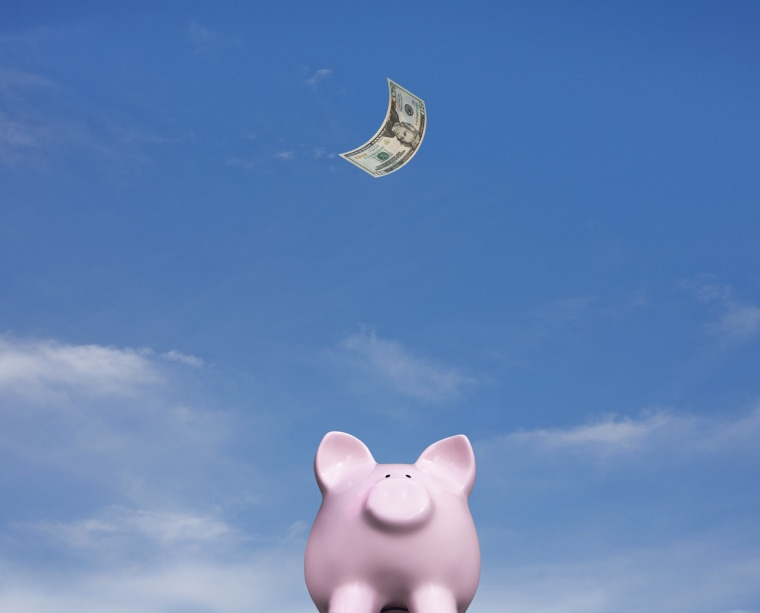 Piggy bank looks for savings Dollar stock, 401k, savings, ira, banking, dollar, bank, money