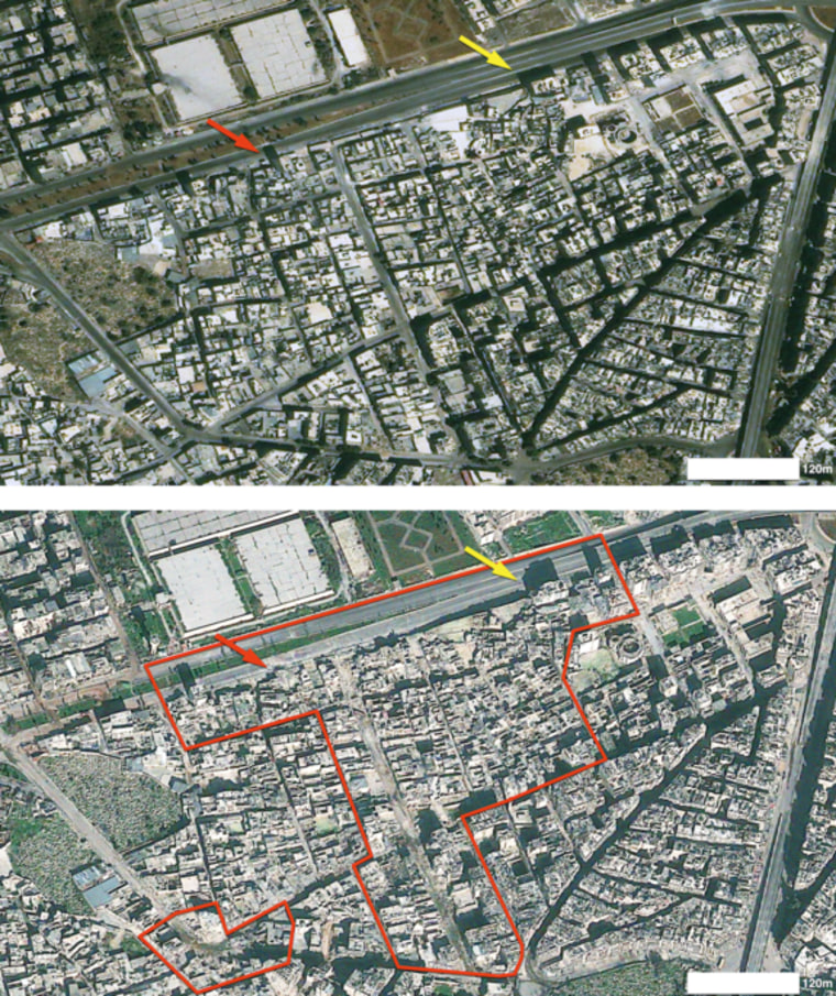 Syria civil war scars captured by satellite in space