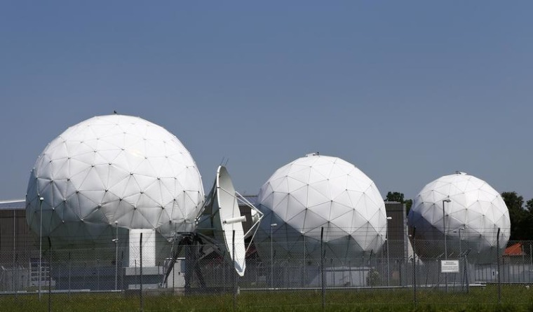 A general view of the large former monitoring base of the U.S. intelligence organization National Security Agency (NSA) in Bad Aibling south of Munich...