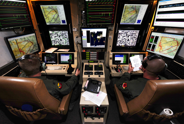 Pilot trainees fly an Unmanned Aerial System at Holloman Air Force Base