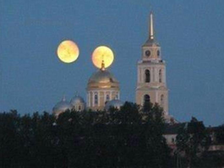 Image: Two moons over monastery