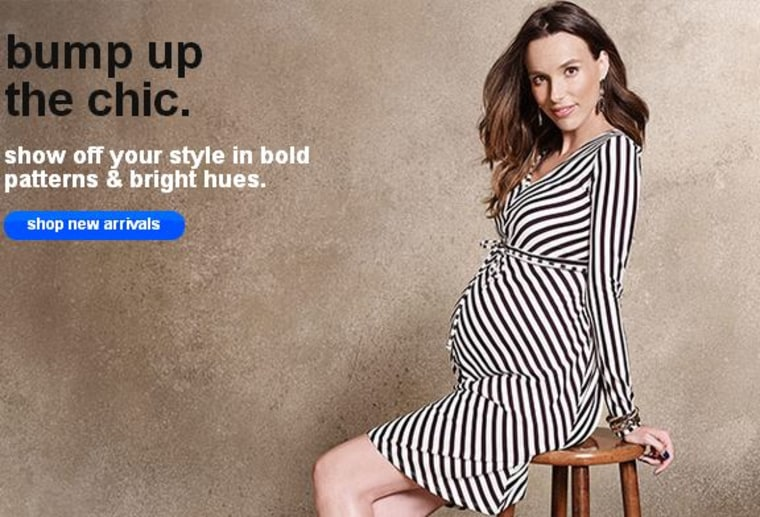 db7c135aaad3f Target carries inexpensive maternity clothes, including a basic V-neck tee  by Liz Lange