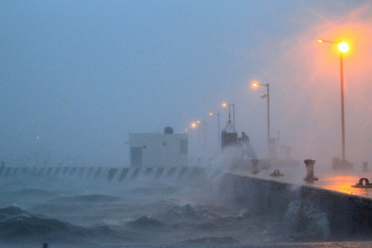 The port of Veracruz, Mexico as Tropical Storm Fernand made landfall early Monday morning.