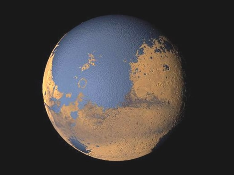 Image: Mars with ocean