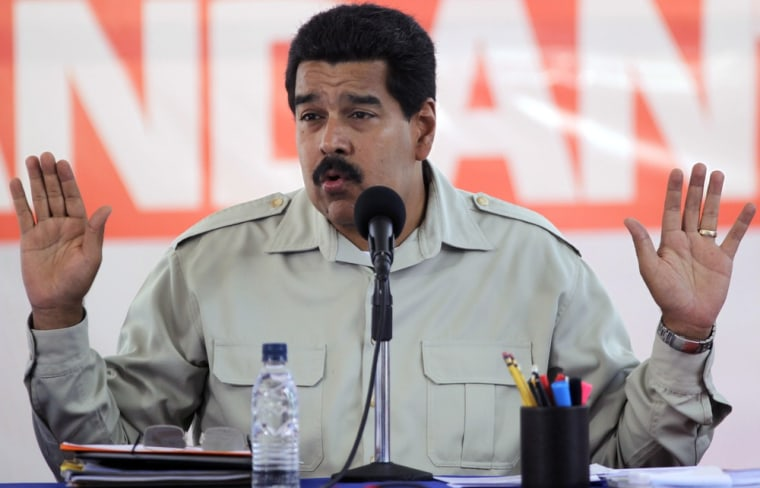 Nicolas Maduro at a previous speech. The Venezuelan President mistakenly referred to loaves and