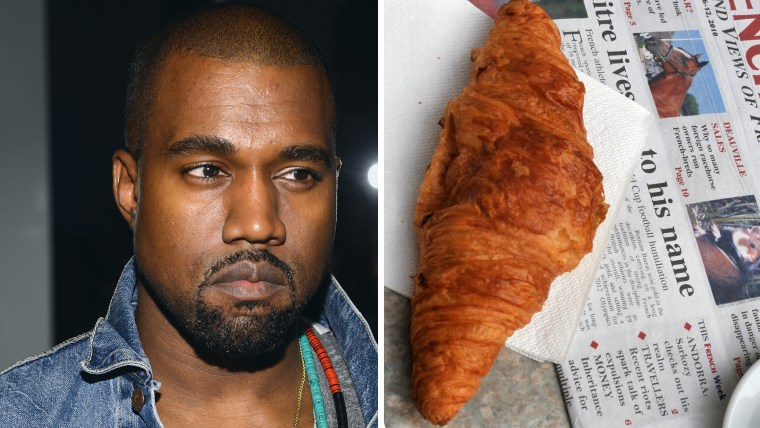Image: Kanye West, and a croissant.